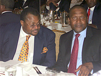 Mike Adenuga avec Aliko Dangote