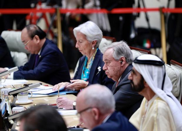 ONU Chine/Zhao Yun Le chef de l'ONU participant à la réunion des leaders sur la promotion du développement vert et durable à Bejing, en Chine.