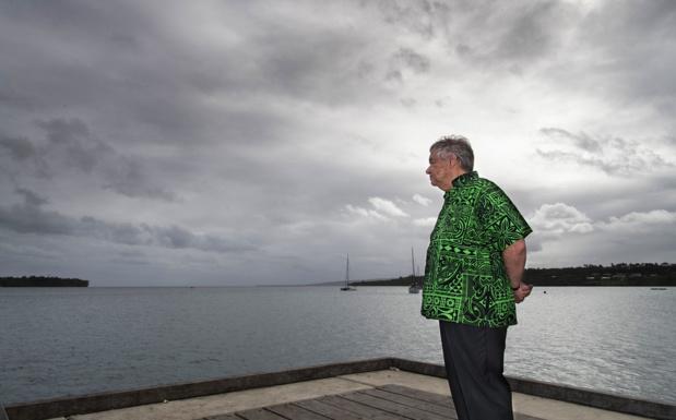 Photo/ONU : Mark Garten Le Secrétaire général des Nations Unies, António Guterres, visite le Vanuatu, dernière étape de son voyage dans l'océan Pacifique. (18 mai 2019)f climate change. (18 May 2019)