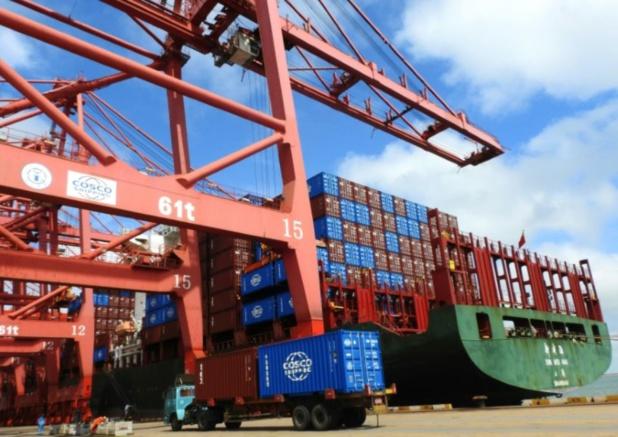 Des conteneurs dans le port de Lianyungang, le 13 juillet 2018 en Chine Photo STR. AFP