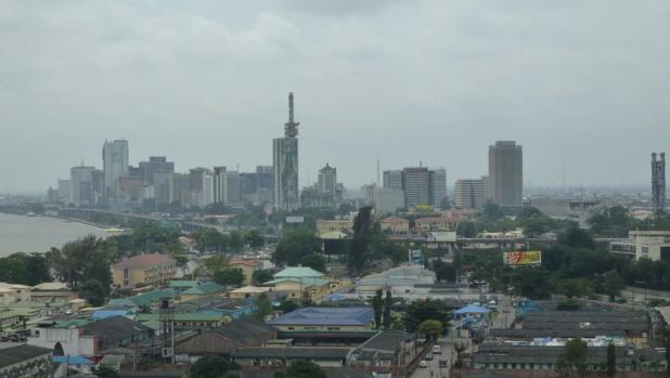 Vue aérienne de Lagos, la plus grande ville du Nigeria. © creative commons