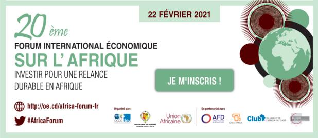 Forum économique international sur l'Afrique : La 20ème édition prévue le 22 février prochain