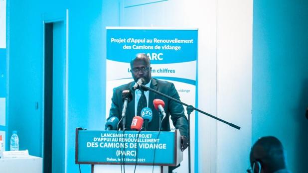 Babacar Thiaba Ndiaye , le directeur général adjoint de la Bnde lors du lancement du Parc