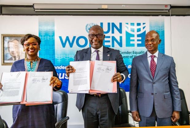 Promotion du genre dans la gestion des risques de catastrophe : Le Groupe Arc et Onu Femmes signent un accord de partenariat