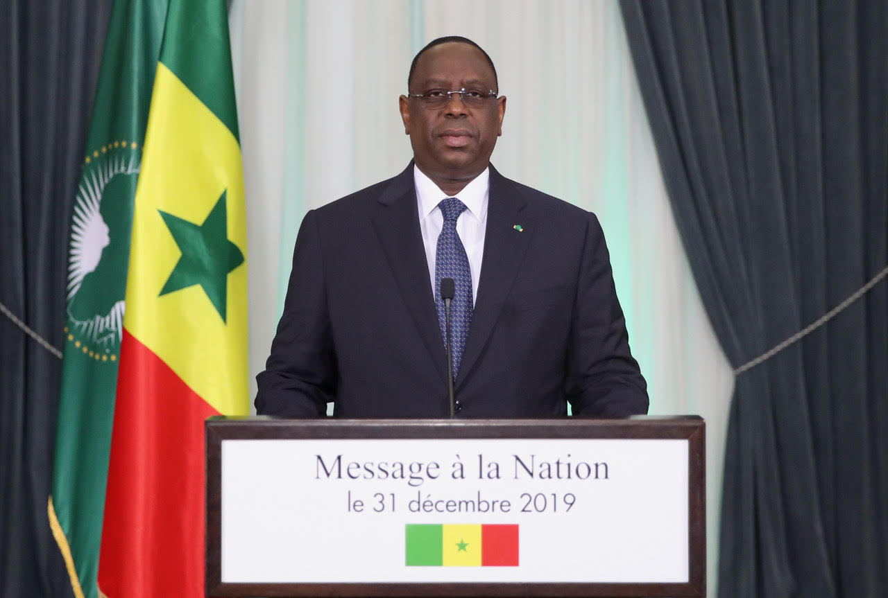 MESSAGE A LA NATION  DE SON EXCELLENCE MONSIEUR LE PRESIDENT MACKY SALL     A L'OCCASION DU NOUVEL AN
