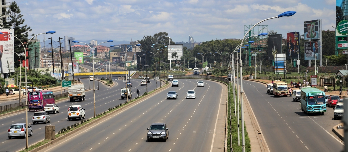 Une autoroute au Kenya. Photographie : © Sarah Farhat/Banque mondiale