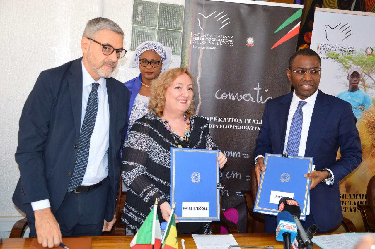 Coopération au développement : Le Sénégal et l'Italie signent quatre accords de financement