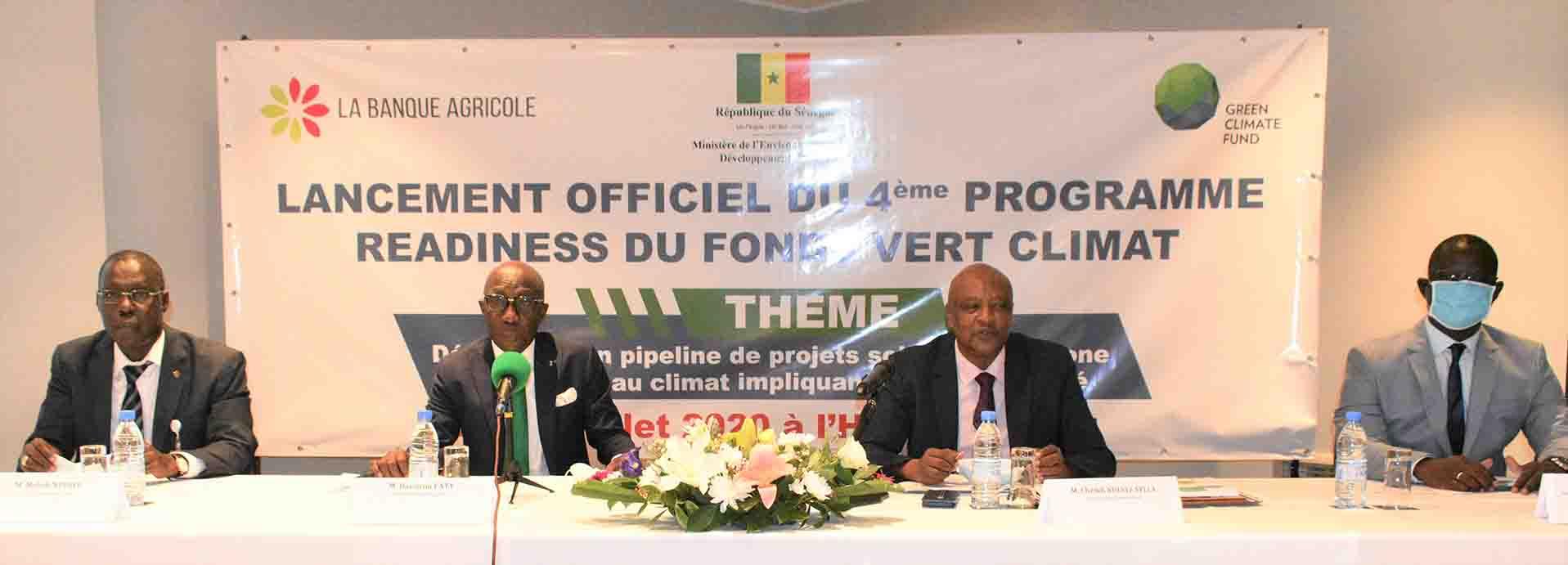 Sénégal : La Banque Agricole lance le 4ème Programme Readiness du Fonds Vert Climat