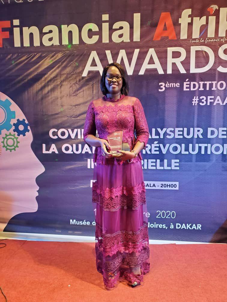 Financial Afrik Awards 2020 : Marie Odile Sène Kantoussan décroche le prix du « meilleur financier de l'année »