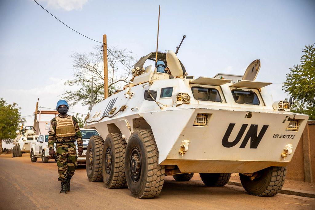MINUSMA/Harandane Dicko Des Casques bleus de la MINUSMA en patrouille dans l'est du Mali.