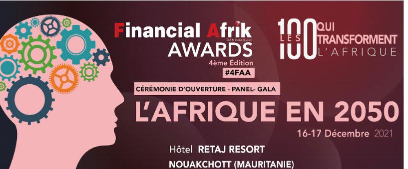Financial Afrik Awards 2021 : La Mauritanie abrite la quatrième édition les 16 et 17 décembre prochain