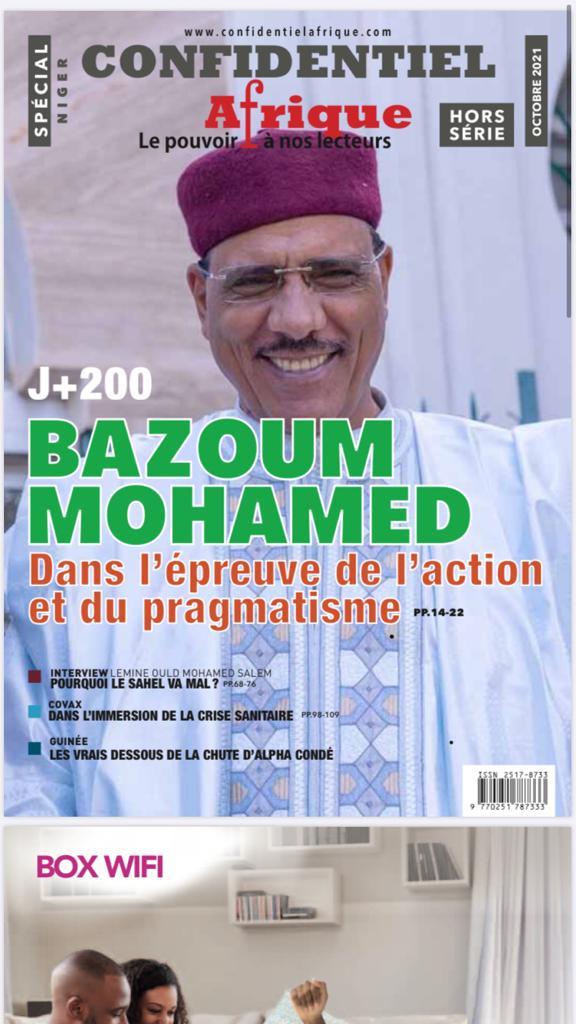 Nouveau numéro du magazine Hors-série du journal Confidentiel Afrique -NIGER : 200 Jours dans l' ACTION et le  PRAGMATISME pour le successeur de ISSOUFOU Mahamadou