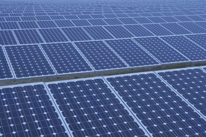 Vue d'une centrale solaire photovoltaique