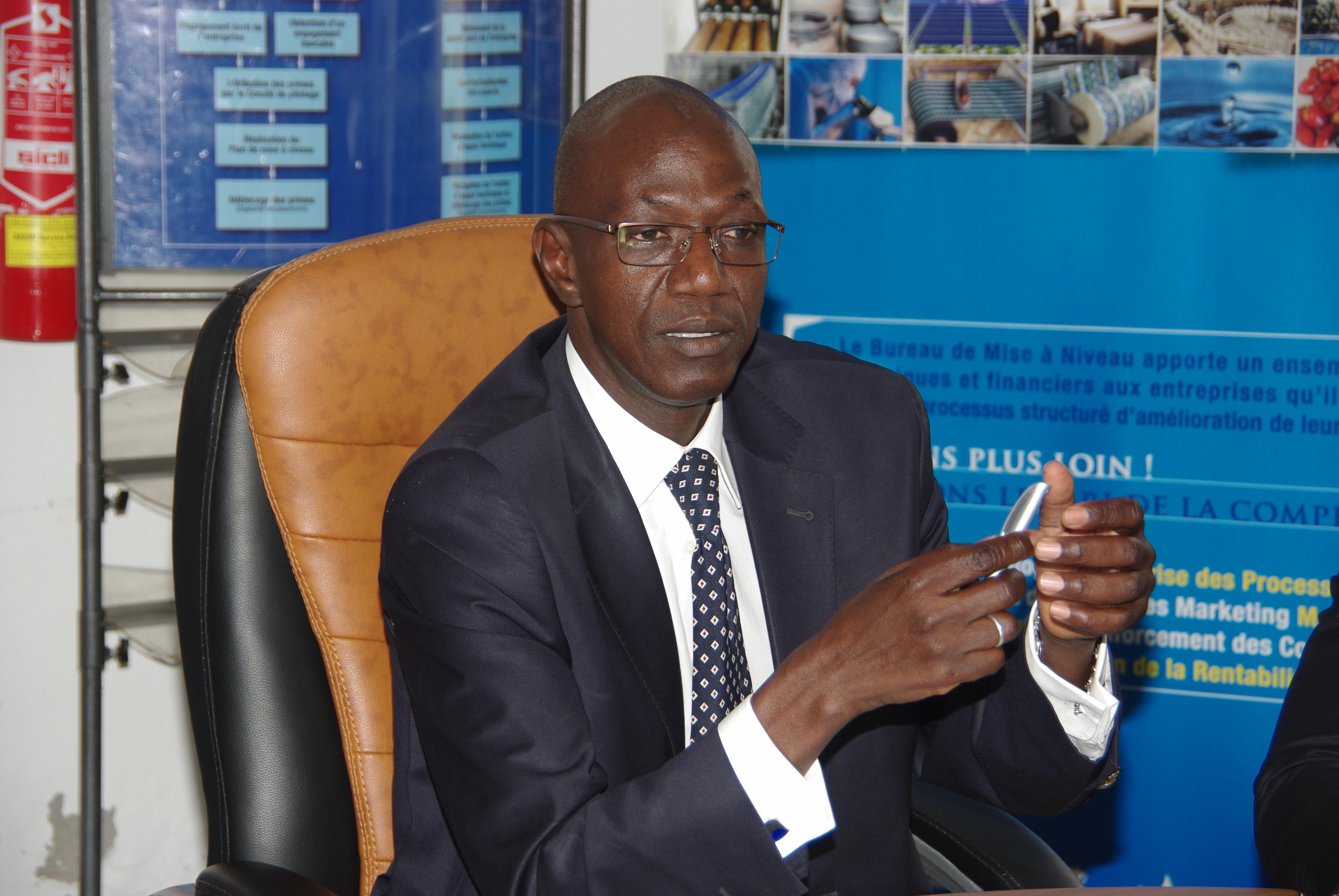 Ibrahima Diouf, directeur du Bureau  de Mise à Niveau des entreprises